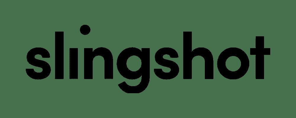 slingshot black word logo