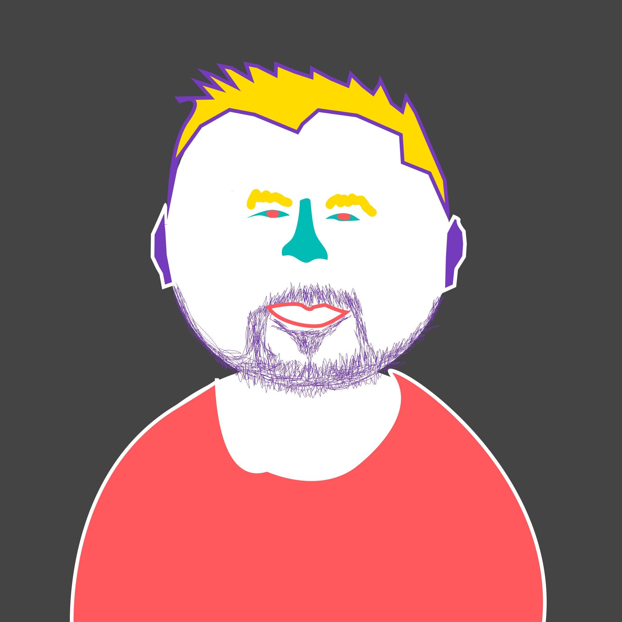 Krupei drawn headshot