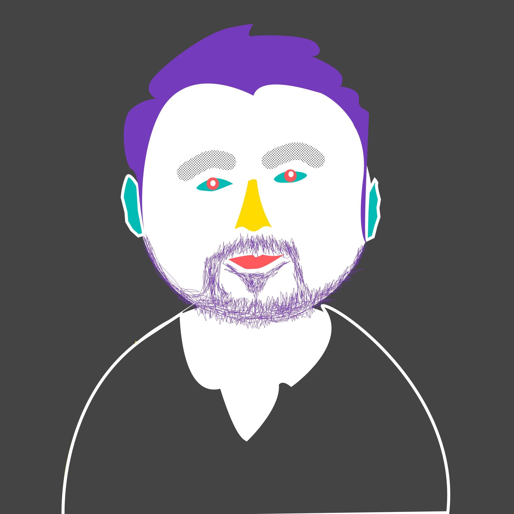Skyba drawn headshot