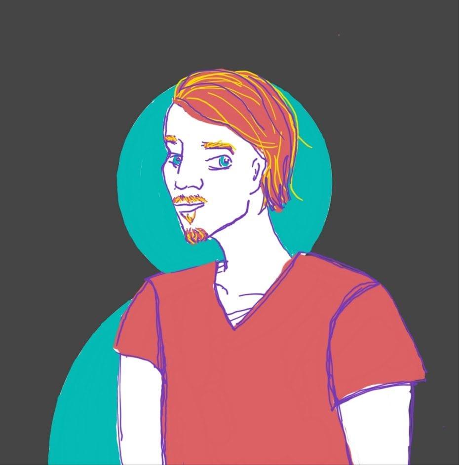 Jonathan - Headshot drawn